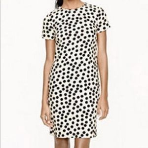 J Crew polka dot shift dress
